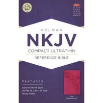 NKJV Compact Ultrathin Bible, Pink LeatherTouch by Holman Bible Staff, 9781586406226