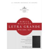 RVR 1960/KJV Biblia Bilingue Letra Grande, negro imitacion piel, 9781586408190