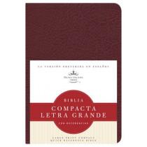RVR 1960 Biblia Compacta Letra Grande con Referencias, borgona imitacion piel, 9781586408497