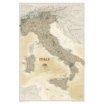 Italy Executive, Tubed: Wall Maps Countries & Regions by National Geographic Maps, 9781597752732