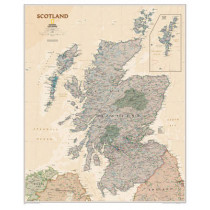 Scotland Classic, Laminated: Wall Maps Countries & Regions by National Geographic Maps, 9781597753630