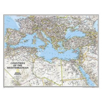 Mediterranean Region Classic, Tubed: Wall Maps - Countries & Regions by National Geographic Maps, 9781597755856