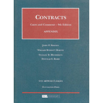 Appendix to Contracts, Cases and Comment by John P. Dawson, 9781599413198