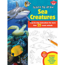 Learn to Draw Sea Creatures: Step-by-step instructions for more than 25 ocean animals - 64 pages of drawing fun! Contains fun facts, quizzes, color photos, and much more! by Robbin Cuddy, 9781600584459