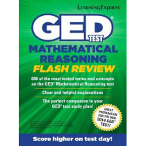 GED Test Mathematics Flash Review by LearningExpress LLC, 9781611030082