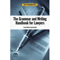 The Grammar and Writing Handbook for Lawyers by Lenne Eidson Espenschied, 9781616328825