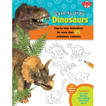 Dinosaurs (Learn to Draw): Step-By-Step Instructions for More Than 25 Prehistoric Creatures by Robbin Cuddy, 9781633220300