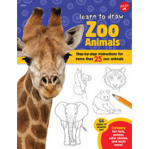 Zoo Animals (Learn to Draw): Step-By-Step Instructions for More Than 25 Zoo Animals by Robbin Cuddy, 9781633221031