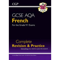 New GCSE French AQA Complete Revision & Practice (with CD & Online Edition) - Grade 9-1 Course by CGP Books, 9781782945390