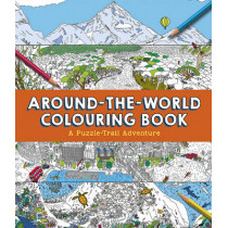 Around-the-World Colouring Book: A Puzzle-Trail Adventure by Clive Gifford, 9781783122219