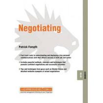 Negotiating: Leading 08.05 by Patrick Forsyth, 9781841123615