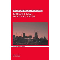 Insurance Law: An Introduction by Professor Robert M. Merkin, 9781843116776
