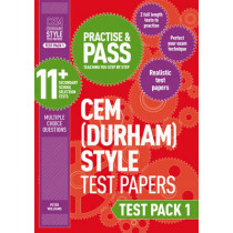 Practise and Pass 11+ CEM Test Papers - Test Pack 1 by Peter Williams, 9781844556342