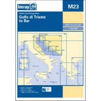 Imray Chart M23: Adriatic Sea Passage Chart; Golfo Di Trieste to Bar and Promontorio Del Gargano by Imray, 9781846236433