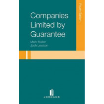 Companies Limited by Guarantee by Josh Lewison, 9781846618383
