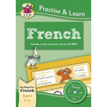 Practise & learn activity books with vocab CD-Rom: French ages 9-11, 9781847629876