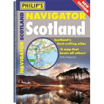 Philip's Navigator Scotland: (A4 Spiral binding), 9781849074339