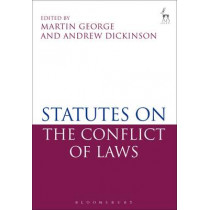 Statutes on the Conflict of Laws by Martin George, 9781849463430