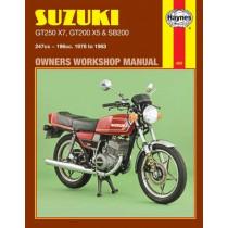 Suzuki GT250X7, GT200X5 & SB200 Twins (78 - 83) by Haynes Publishing, 9781850100683