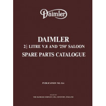 Daimler 2.5 Litre V8 & 250 Saloon Part Catalogue, 9781855200098