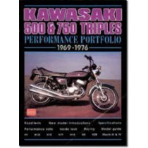Kawasaki 500 and 750 Triples Performance Portfolio 1969-1976 by R. M. Clarke, 9781855205239