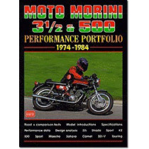 Moto Morini 3-1/2 and 500 Performance Portfolio 1974-1984 by R. M. Clarke, 9781855205680