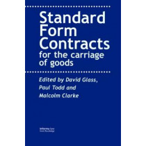 Contracts for the Carriage of Goods by Todd Glass, 9781859785485