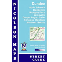 Nicolson Street Map Dundee (Card Cover): Alyth,Arbroath,Blairgowrie,Broughty Ferry,Carnoustie,Coupar Angus,Forfar,Kirriemuir,Monifieth,Muirhead & Rattray by M. V. Nicolson, 9781860973727