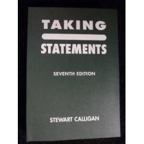 Taking Statements by Stewart Calligan, 9781903639238