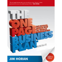 The One Page Business Plan: The Fastest, Easiest Way to Write a Business Plan by Jane Horan, 9781906465315