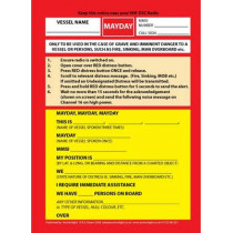 VHF DSC Mayday Procedure Card by Robert Dearn, 9781906594015