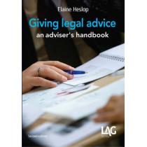 Giving Legal Advice: An Adviser's Handbook by Elaine Heslop, 9781908407436