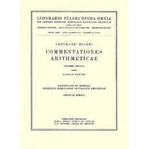 Commentationes arithmeticae 3rd part by Rudolf Fueter, 9783764314033