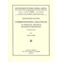Commentationes analyticae ad theoriam serierum infinitarum pertinentes 3rd part, 1st section by Leonhard Euler, 9783764314156