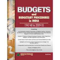Budgets & Budgetary Procedures in India -- 1947-48 to 2009-10 by M. M. Sury, 9788177082043