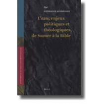 L'eau, enjeux politiques et theologiques, de Sumer a la Bible by Stephanie Anthonioz, 9789004178984