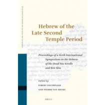 Hebrew of the Late Second Temple Period: Proceedings of a Sixth International Symposium on the Hebrew of the Dead Sea Scrolls and Ben Sira by Eibert Tigchelaar, 9789004291010