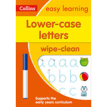 Lower Case Letters Age 3-5 Wipe Clean Activity Book (Collins Easy Learning Preschool) by Collins Easy Learning, 9780008212926