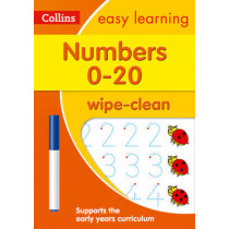 Numbers 0-20 Age 3-5 Wipe Clean Activity Book (Collins Easy Learning Preschool) by Collins Easy Learning, 9780008212957