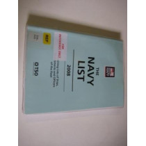 Navy List: 2008 by Great Britain: Ministry of Defence (Navy), 9780117730816