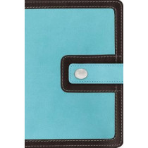 NIV, Thinline Bible, Compact, Leathersoft, Teal/Brown, Red Letter Edition, Comfort Print by Zondervan, 9780310448280