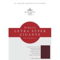 RVR 1960 Biblia Letra Super Gigante, borgona imitacion piel con indice, 9781433646867