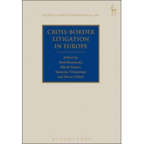 Cross-Border Litigation in Europe by Paul Beaumont, 9781782256762