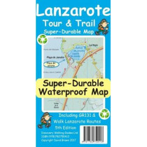 Lanzarote Tour & Trail Super-Durable Map by David Brawn, 9781782750413