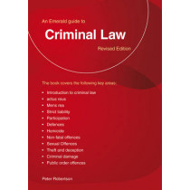 A Guide To Criminal Law by Peter Robertson, 9781847166784