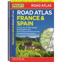Philip's France and Spain Road Atlas, 9781849074322