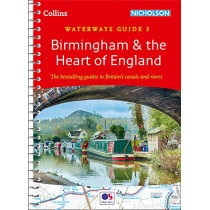 Birmingham & the Heart of England: Waterways Guide 3 (Collins Nicholson Waterways Guides) by Collins Maps, 9780008257996