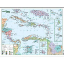 Caribbean Wall Map by Collins Maps, 9780008300401