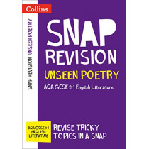 Unseen Poetry: New GCSE 9-1 English Literature AQA (Collins GCSE 9-1 Snap Revision) by Collins GCSE, 9780008320119