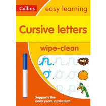 Cursive Letters Age 3-5 Wipe Clean Activity Book (Collins Easy Learning Preschool) by Collins Easy Learning, 9780008335830